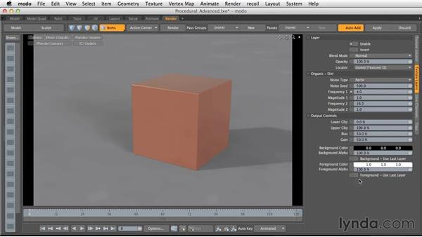Advanced procedurals: Light and Texture for Product Visualization in MODO