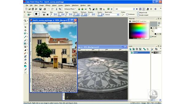 cloning between images: Learning Jasc Paint Shop Power Suite Photo Edition
