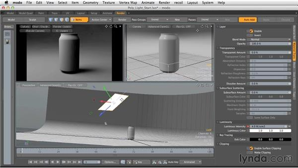 Considerations for polygonal lighting: Light and Texture for Product Visualization in MODO