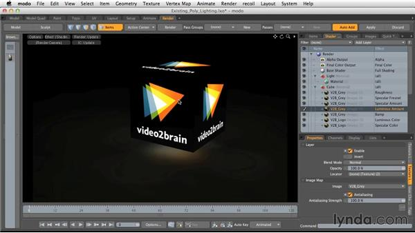 Using existing models for lighting: Light and Texture for Product Visualization in MODO