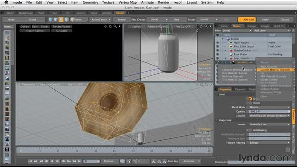 Using images with polygonal lighting: Light and Texture for Product Visualization in MODO