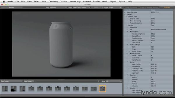 Rendering with polygonal lighting: Light and Texture for Product Visualization in MODO