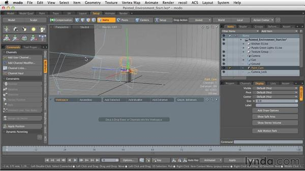 Setting up the environment: Light and Texture for Product Visualization in MODO