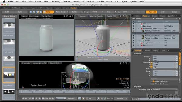 Other options for painted environments: Light and Texture for Product Visualization in MODO