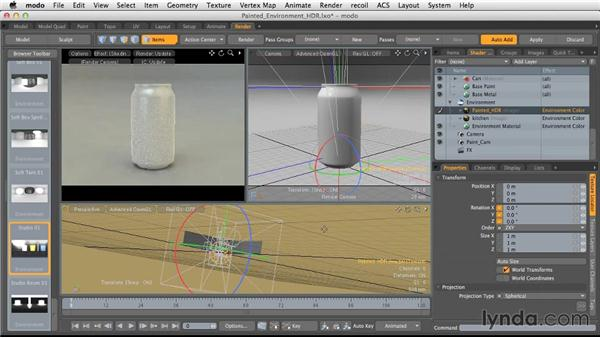 Creating HDR environments from Paint: Light and Texture for Product Visualization in MODO