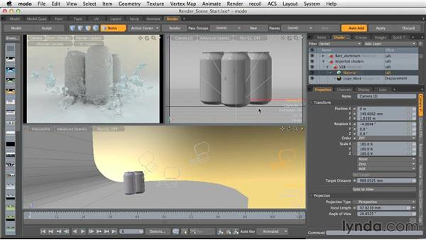 Camera settings for finished renders: Light and Texture for Product Visualization in MODO