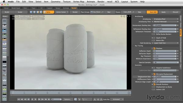 Render quality settings: Light and Texture for Product Visualization in MODO