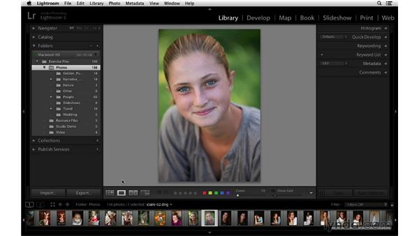 Getting familiar with the Lightroom interface: Lightroom 5 Essentials: 01 Importing with the Library Module