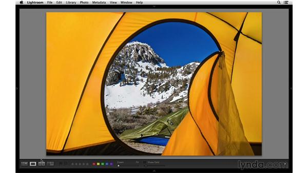Dimming the interface with Lights Out mode: Lightroom 5 Essentials: 01 Importing with the Library Module