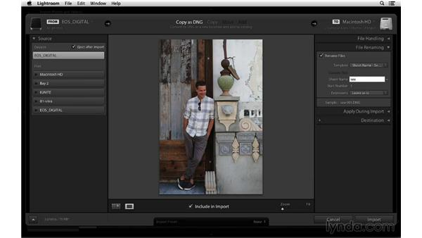 File handling and renaming options: Lightroom 5 Essentials: 01 Importing with the Library Module