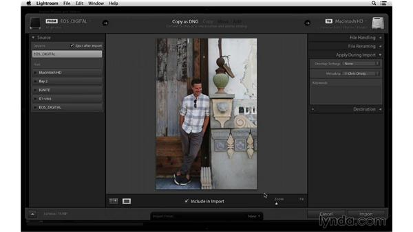 Applying copyright metadata and creating a preset: Lightroom 5 Essentials: 01 Importing with the Library Module