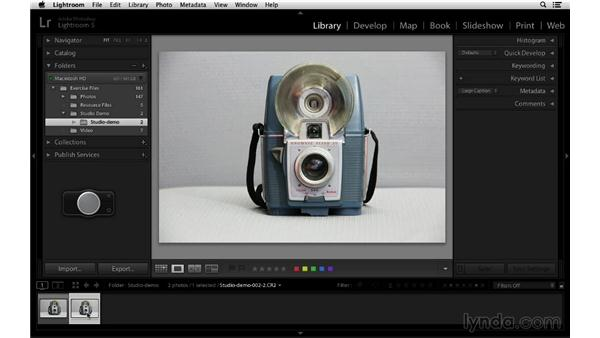 Working with tethered capture: Lightroom 5 Essentials: 01 Importing with the Library Module