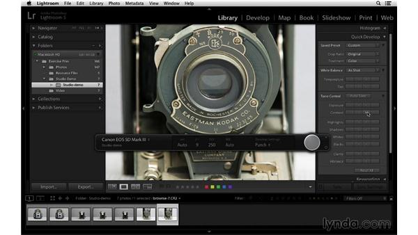 Using Develop presets to process images: Lightroom 5 Essentials: 01 Importing with the Library Module