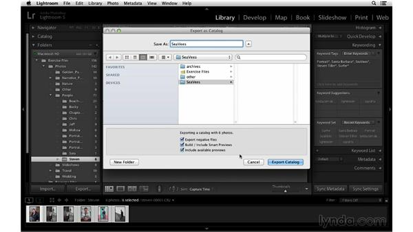 Exporting a catalog: Lightroom 5 Essentials: 01 Importing with the Library Module