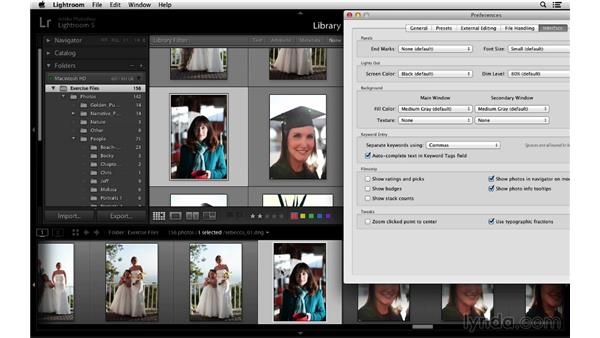 Customizing the Filmstrip view: Lightroom 5 Essentials: 01 Importing with the Library Module