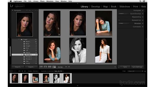 Surveying two or more images: Lightroom 5 Essentials: 01 Importing with the Library Module