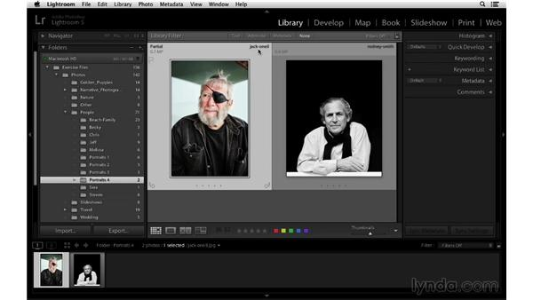 Working with folders and files: Lightroom 5 Essentials: 01 Importing with the Library Module
