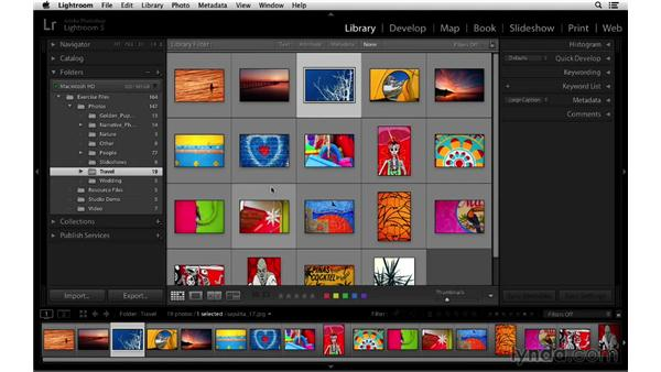 Minimizing various interface elements: Lightroom 5 Essentials: 01 Importing with the Library Module