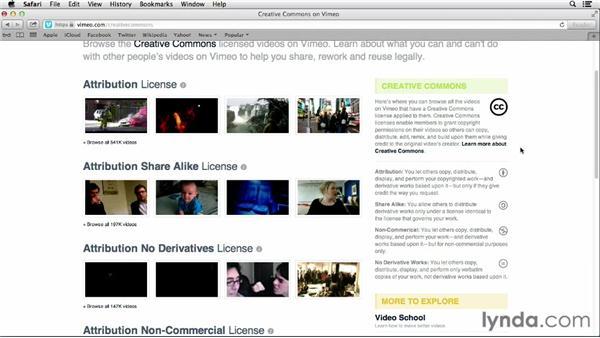 Understanding Creative Commons licensing on Vimeo: Vimeo Essential Training
