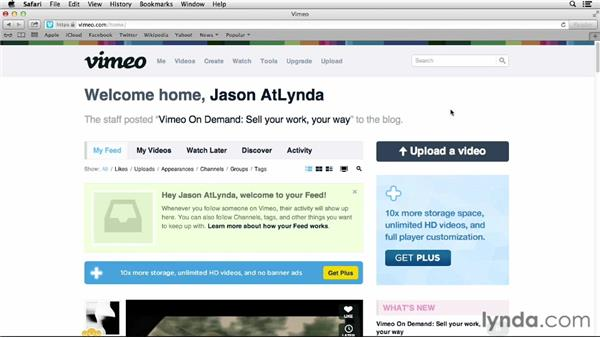 Creating an account: Vimeo Essential Training
