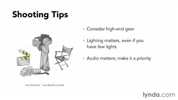 Shooting tips for Vimeo: Vimeo Essential Training