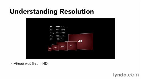Understanding video resolution: Vimeo Essential Training