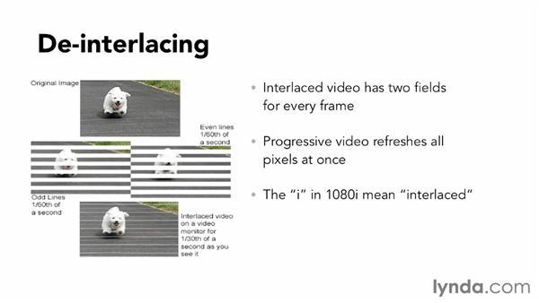 Making sure video is deinterlaced: Vimeo Essential Training