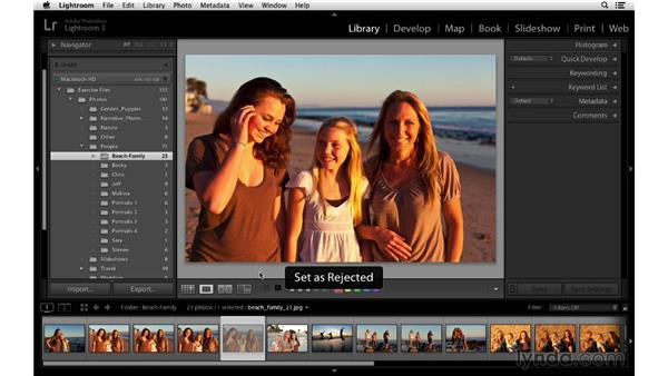 Adding flags, stars, and labels more quickly: Lightroom 5 Essentials: 02 Managing Images with the Library Module
