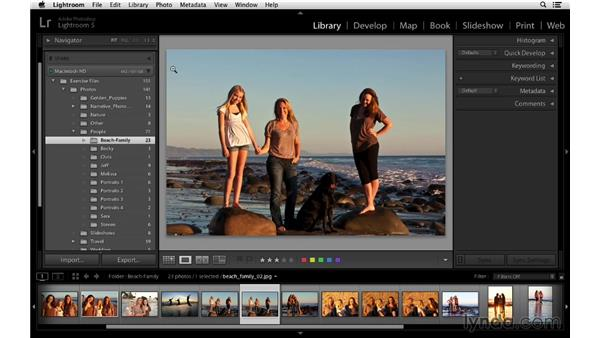Using Auto Advance to speed up rating photos: Lightroom 5 Essentials: 02 Managing Images with the Library Module