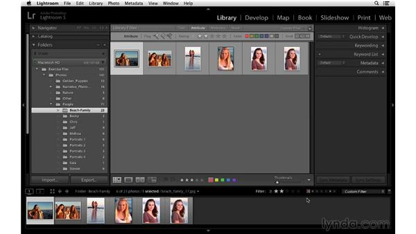Filtering by flag, stars, and labels: Lightroom 5 Essentials: 02 Managing Images with the Library Module
