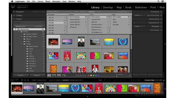 Filtering by text, metadata, and file type: Lightroom 5 Essentials: 02 Managing Images with the Library Module