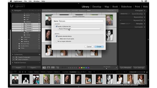 Creating a collection to group images together: Lightroom 5 Essentials: 02 Managing Images with the Library Module