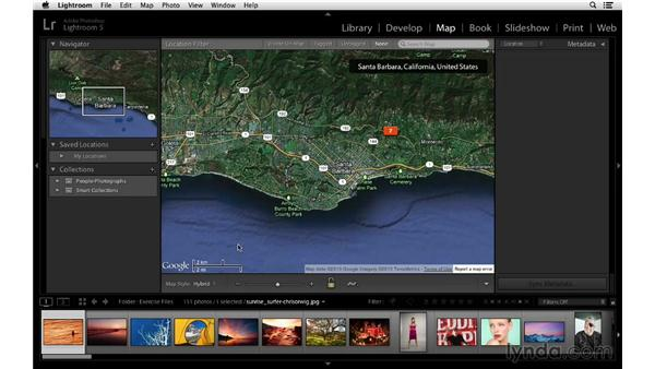 Overview of the new Map module: Lightroom 5 Essentials: 02 Managing Images with the Library Module
