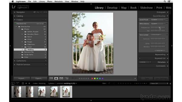 Using Quick Develop: Lightroom 5 Essentials: 02 Managing Images with the Library Module