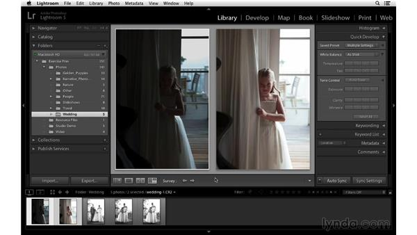 Making incremental adjustments to images: Lightroom 5 Essentials: 02 Managing Images with the Library Module