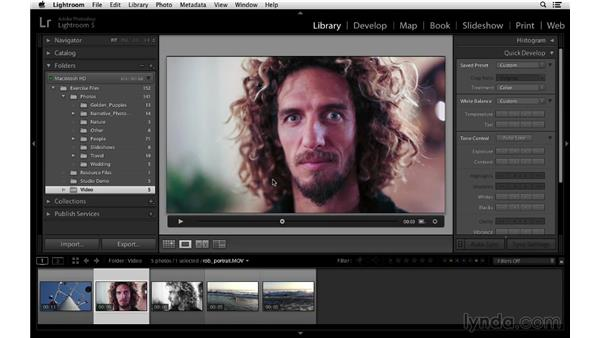 Setting the poster frame: Lightroom 5 Essentials: 02 Managing Images with the Library Module
