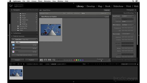 Publishing to a hard drive: Lightroom 5 Essentials: 02 Managing Images with the Library Module