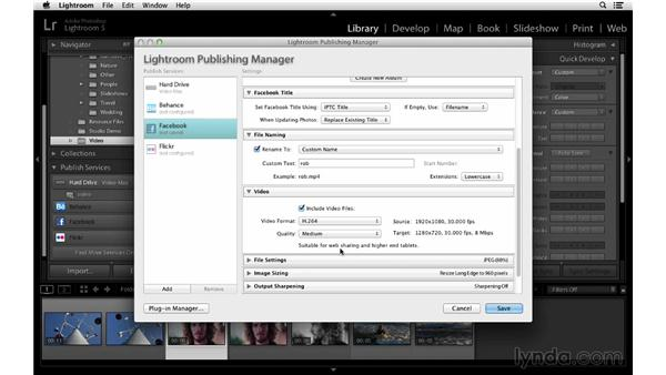 Publishing video to Facebook: Lightroom 5 Essentials: 02 Managing Images with the Library Module
