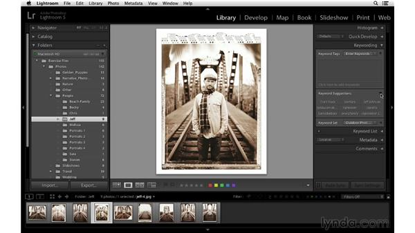 Adding keywords: Lightroom 5 Essentials: 02 Managing Images with the Library Module