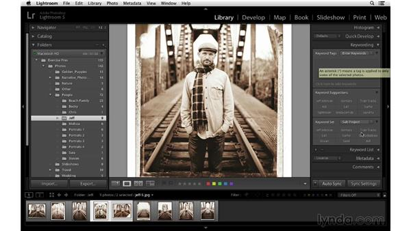Synchronizing keywords: Lightroom 5 Essentials: 02 Managing Images with the Library Module