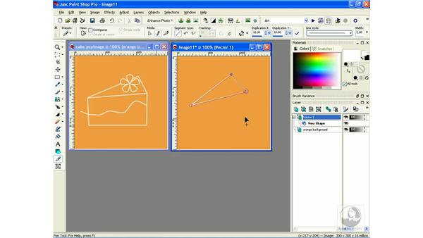 drawing and editing with the pen tool: Learning Jasc Paint Shop Power Suite Photo Edition