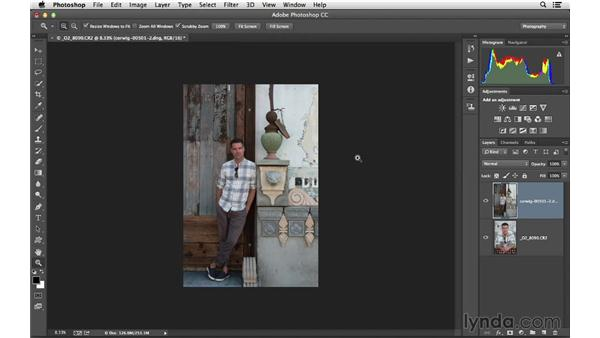 Including multiple images in Photoshop as layers: Lightroom 5 Essentials: 02 Managing Images with the Library Module