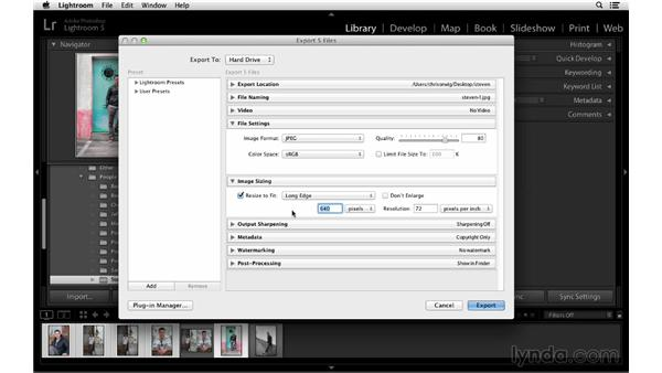 Exporting photographs to a hard drive, CD, or DVD: Lightroom 5 Essentials: 02 Managing Images with the Library Module