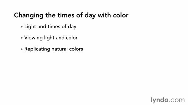 Changing the times of day with color: The Art of Color Correction: Color Grading for Locations and Times of Day