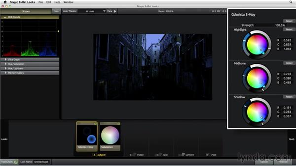 Composing a day-for-night shot: The Art of Color Correction: Color Grading for Locations and Times of Day