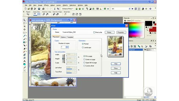 printing single images: Learning Jasc Paint Shop Power Suite Photo Edition