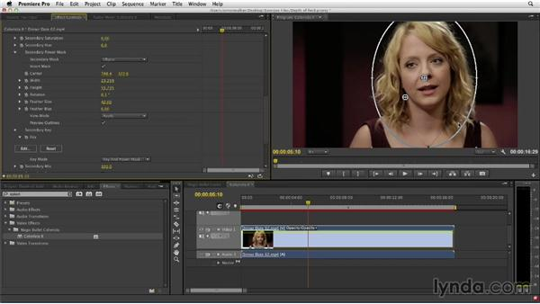 Creating fake depth of field in Colorista II: The Art of Color Correction: Color Grading for Locations and Times of Day