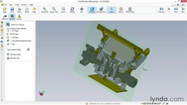 Creating section views: Up and Running with eDrawings
