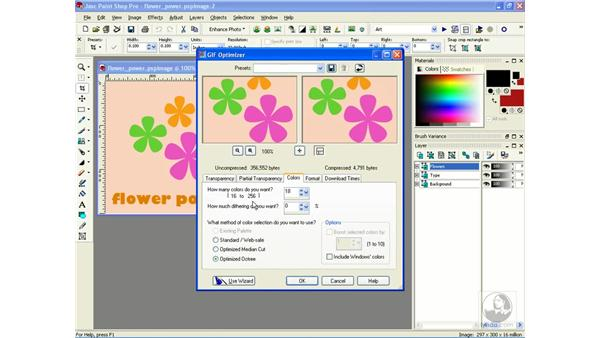 optimizing GIFs: Learning Jasc Paint Shop Power Suite Photo Edition
