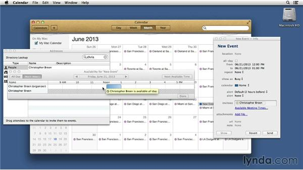 Creating calendar invitations: Mac OS X 10.8 Mountain Lion Tips and Tricks